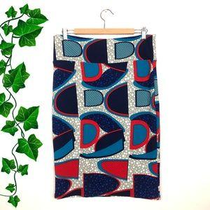 LuLaRoe Retro Chic Abstract Print Cassie Skirt L